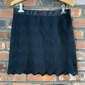 J. Crew Factory Scalloped Lace Lined Mini Skirt